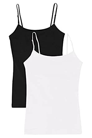 Women Plus Size Cami Built in Shelf Bra Adjustable Spaghetti Strap ...